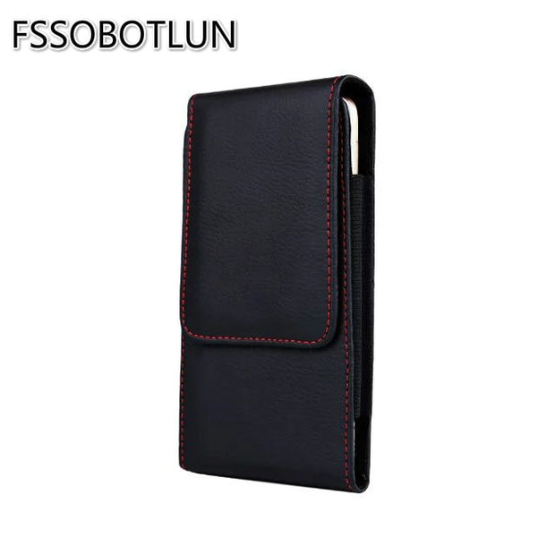 FSSOBOTLUN,For IPhone 8 Plus 5.5 Inch Phone Holsters Cover Leather Case For IPhone 6 Plus Clip Belt Pouch Bag For IPhone 7 Plus