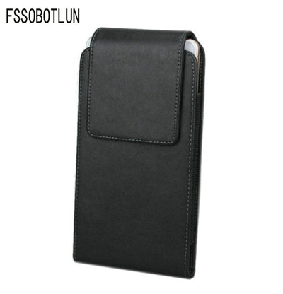FSSOBOTLUN,For IPhone X Pouch Case For IPhone 8 Plus Leather Case For IPhone 7 Plus Pocket Belt Waist Phone Case For IPhone 6s
