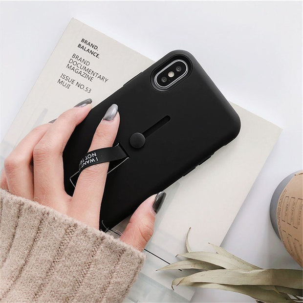Fashion Anti Shock Holder Stand Phone Case For Xiaomi 5X 6X Case Redmi 4X Note4 Note 4X Note 5A 5 5plus Silicon Back Cover Coque