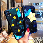 Fashion Blue Ray 3D Phone Case For Apple IPhone 7 6 S 6S 8 Plus X XS MAX XR The Star Picture To Protect The Shell.
