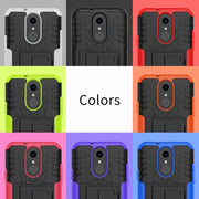 Fashion Dazzle Slim Armor Kickstand 2 In 1 PC TPU Shockproof Back Cover Case For LG G7 Cell Phone Case For LG Q7