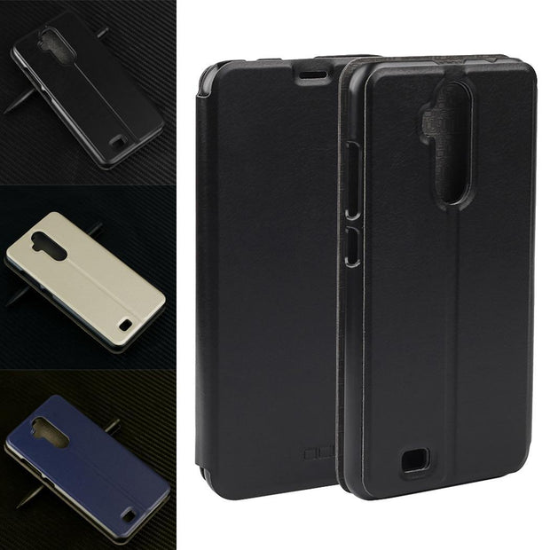 Fashion Leather Wallet Flip Case Protective Phone Cover For Casual Simple Oukitel C12 Solid Pro