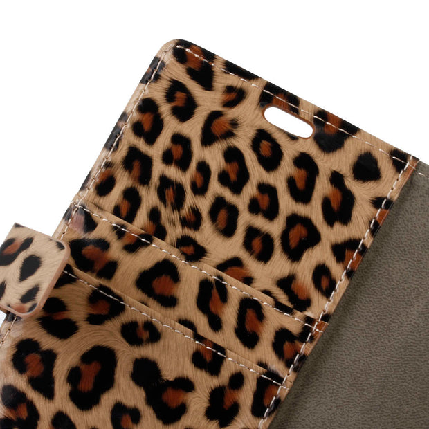 Fashion Sex Leopard Pattern PU Leather Flip Cover Case For Huawei Y5 2018 Magnetic Snap Card Slot Case For Huawei Y5 Prime 2018