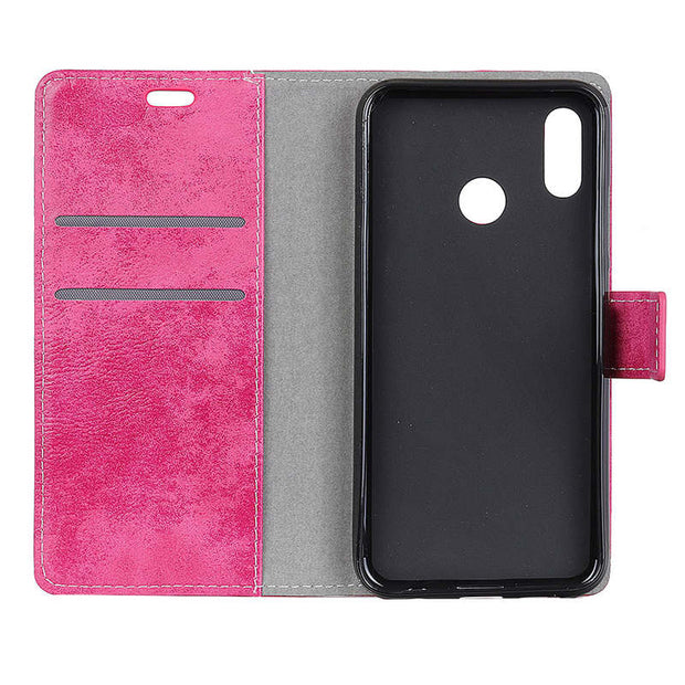 Fashion Vintage Retro Matte PU Leather Flip Cover Magnetic Snap Wallet Stand Card Money Slot Case For Mi Xiaomi Redmi Note 7