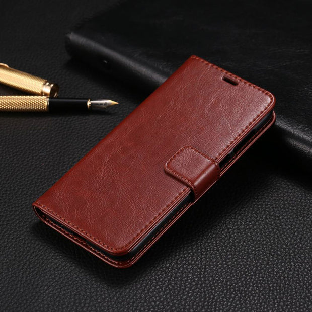 Flip Case For Huawei Honor 8X Cover Case On Honor 8X MAX Leather Flip Phone Bag Vintage Wallet Cases For HUAWEI Honor8X 8 X Max