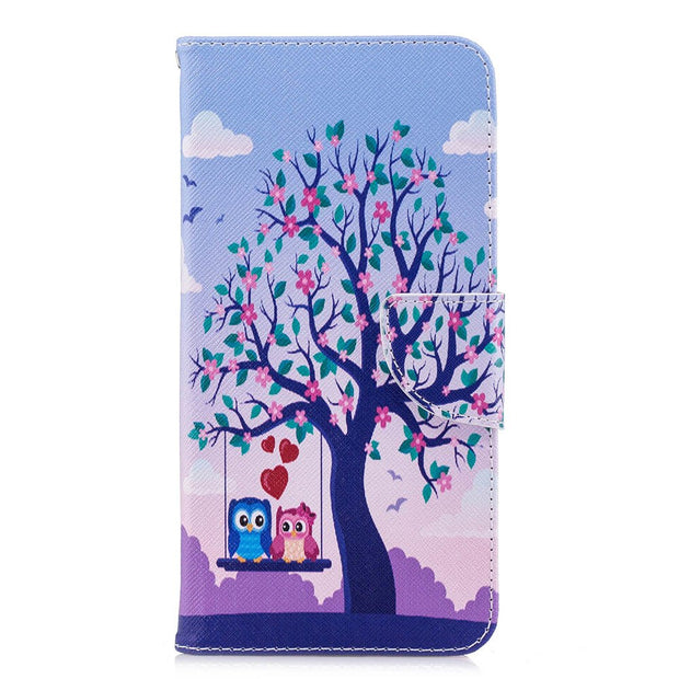 Flip Case For Huawei Honor 7C 7 C Pro LND-L29 Honor7C Pro Case Painted Phone Leather Cover For Huawei Honor C7 Pro LND L29 Cases
