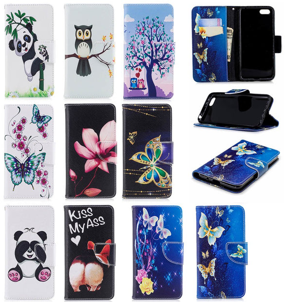 Flip Case For Huawei Y5 Prime 2018 DRA-LX2 DRA-L22 Y5 2018 Case Phone Leather Cover For Huawei Y 5 Prime 2018 DRA LX2 L22 Cases