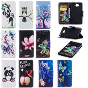Flip Case For Huawei Y6 Y 6 2017 MYA-L11 MYA-L41 Case Painted Phone Leather Cover For Huawei Nova Young MYA L41 L11 Cases Bag