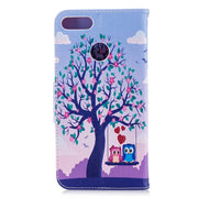 Flip Case For Huawei Y9 9Y 2018 FLA-LX1 FLA-LX2 Case Giant Panda Painted Phone Leather Cover For Huawei Y 9 2018 FLA LX1 LX2 Bag