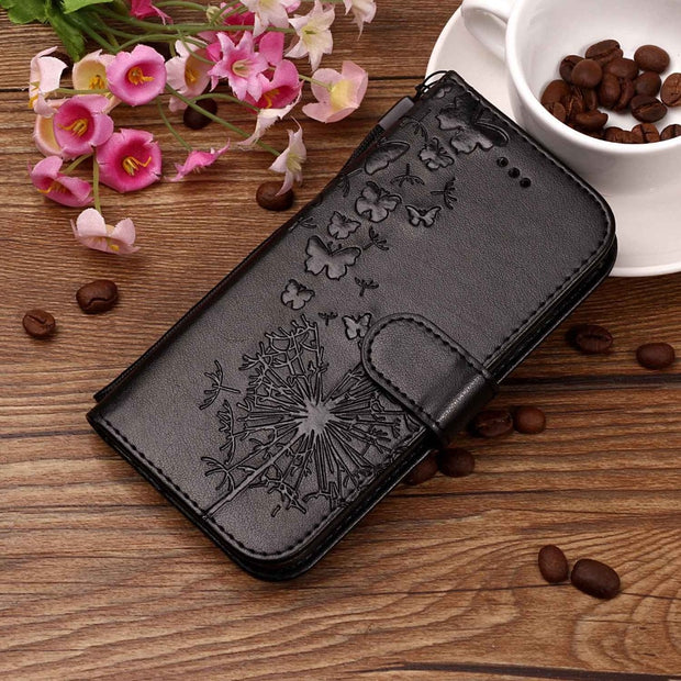 Flip Leather Case SFor Fundas Sony Xperia XA2 Case For Coque Sony XZ2 Case Butterfly Painted Wallet Stand Phone Cover