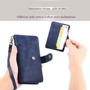 Flip Luxury Detachable Leather Tempered Glass Case Magnet Cover For Iphone 6 6s 6plus 6splus 7 8 7plus 8plus XS XR XSMax JS0864