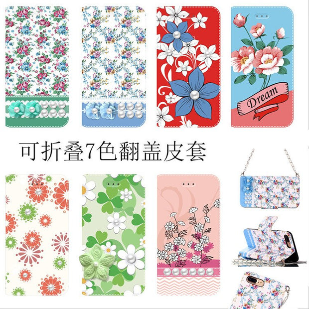 Flower Cases For IPhone 5 5S 6 6S Plus 7 7 8 8 Plus Case Wallet Leather Fundas For Coque IPhone 6S IPhone X XS Max XR Case