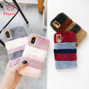FlyTo Case For IPhone 7 8 Plus Plush Phone Case Phone Bag Case For IPhone 6 6S X Plus Phone Pouch For IPhone XR XS MAX Coque