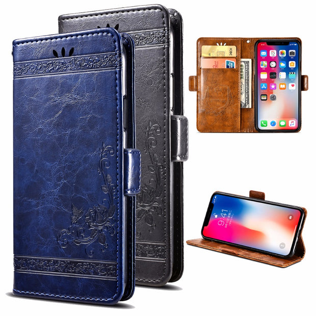 For ASUS ZenFone Live (ZB553KL) PU Leather Flip Cover Protectiv Phone Case With Card Slot Cash Clip Magnetic Closu For ZB553KL