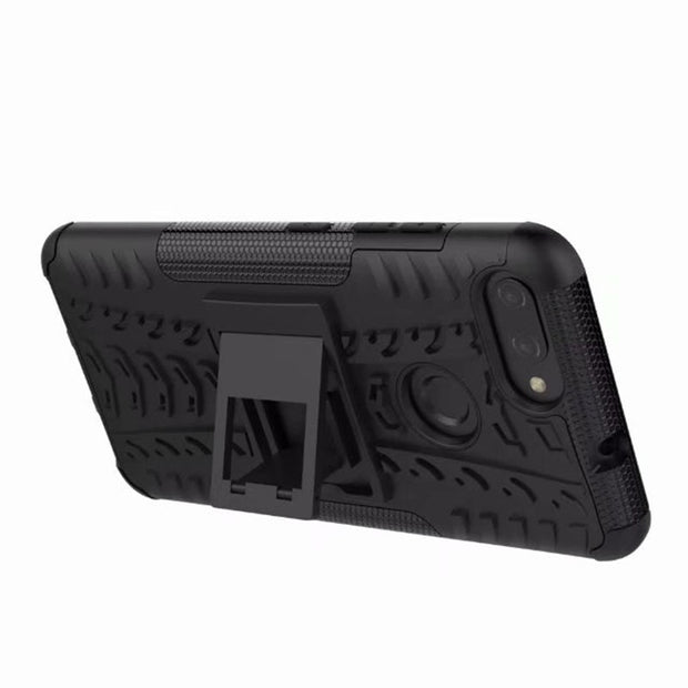 "For ASUS ZenFone Max Plus M1 ZB570TL 5.7"" Dazzle Shockproof Soft Silicon & Hard Plastic Dual Armor Back Case Stand Holder Cover"