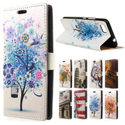 For ( ASUS Zenfone Pegasus 3s Max ZC521TL ) Case Blue Tree Skin Leather Wallet Flip Cover Max ZC521TL Mobile Phone Cases Coque