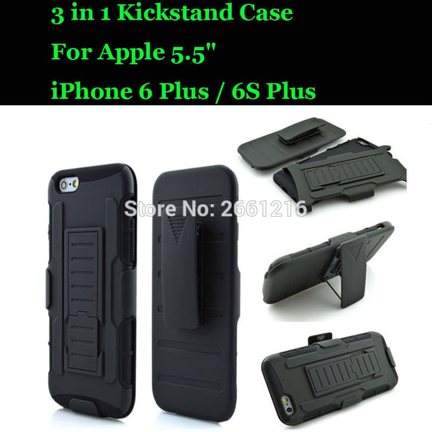 For Apple 5.5 Inch IPhone 6 Plus / 6S Plus Shockproof Future Armor Belt Clip Holster Case With Kickstand Cover