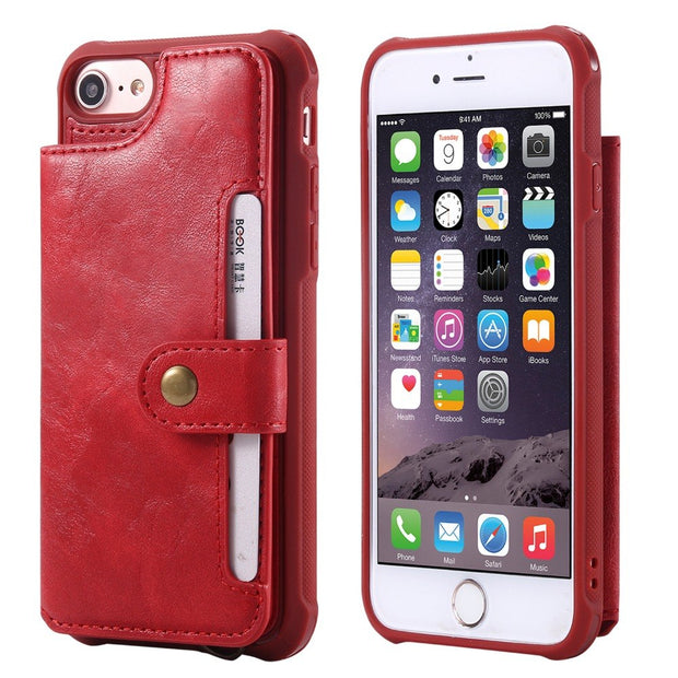 For Apple IPhone 6 6Plus Case Wallet Phone Case Cover For IPhone 7 7Plus Shockproof Leather Cover For IPhone 8 8Plus
