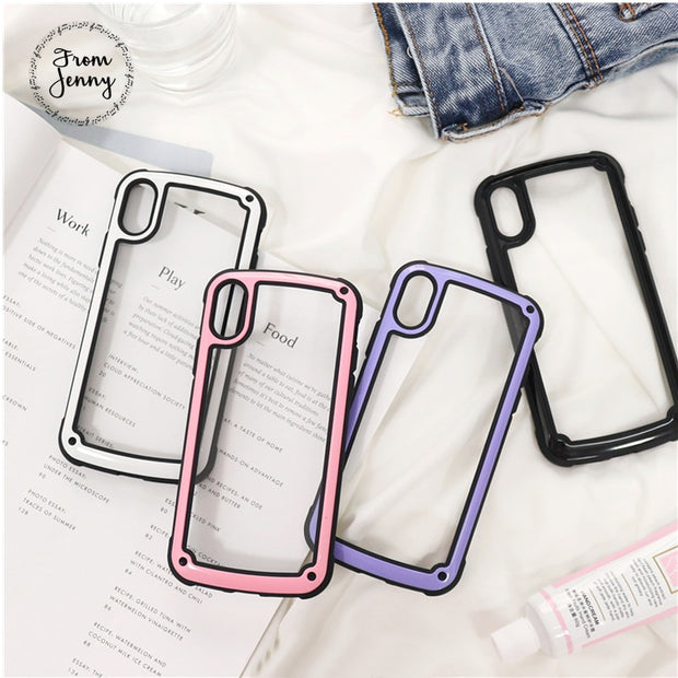 For Apple IPhone X 8 7 6 6s Plus Cover Clear Transparent Ultra Thin Back Full Protective Hard Shell TPU Fitted Case