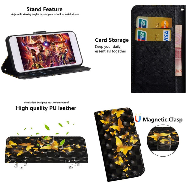 For Asus Zenfone 3 Max ZC553KL Case 3D Leather Card Holder Stand Magnetic Flip Wallet Case For Asus Zenfone 3 Max ZC553KL Cover