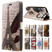 For ( Asus Zenfone GO ZB500KL ) Feather Tower Leather Wallet Flip Coque Cover For Asus Zenfone GO ZB500KL Mobile Phone Bag Cases