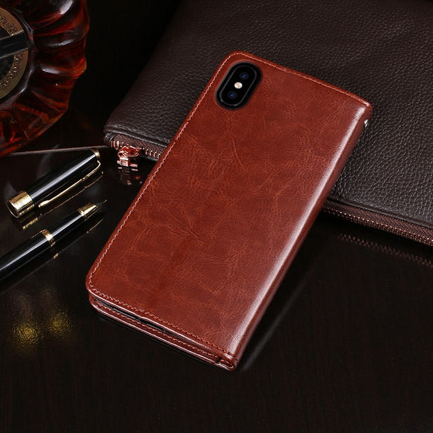 For Coque Doogee X55 Case Wallet Flip Leather & Silicone Back Skin Stand Capa For Doogee X55 Cover X 55 Phones Fundas Pouch Bags
