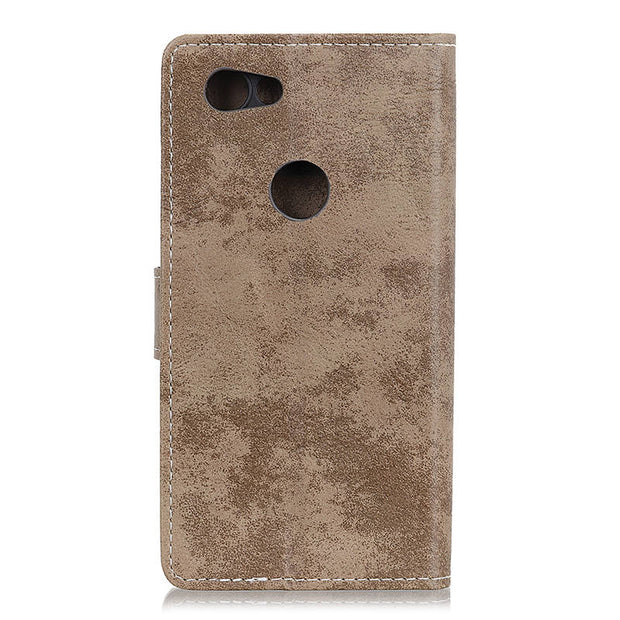 For Google Pixel 3 Lite Vintage Matte Retro PU Leather Flip Cover Stand Card Money Slot Case For Google Pixel3 Lite