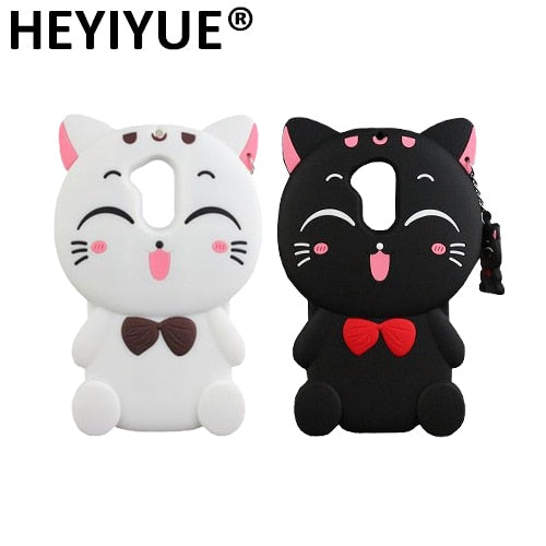 For Huawei Honor 6A DLI-AL10 DLI-TL20 Silicone Sweet Cat 3D Cell Phone Back Case Cover