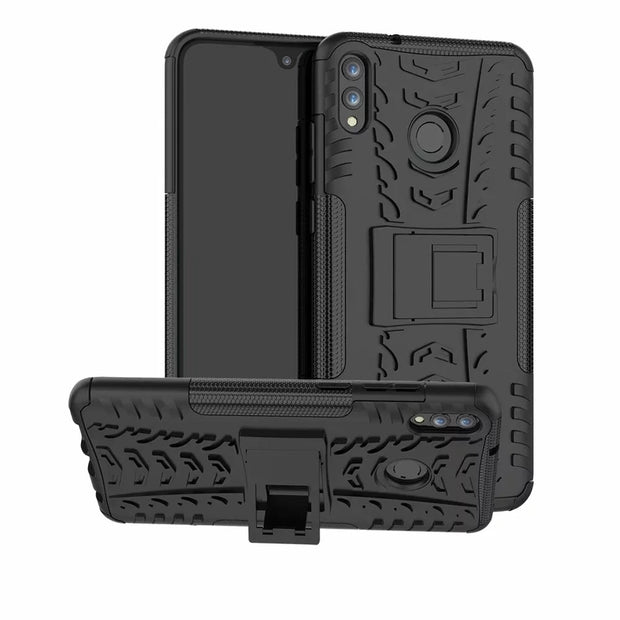 For Huawei Honor 8X Max Case Shockproof Hybrid PC+TPU Kickstand Phone Case Back Cover