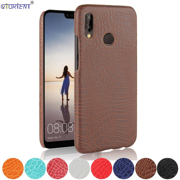 For Huawei Honor Play Crocodile Skin Leather Bumper Case COR-AL00 COR-L29 COR-L01 COR-L02 COR-L22 COR-L29A Hard PC Frame Cover