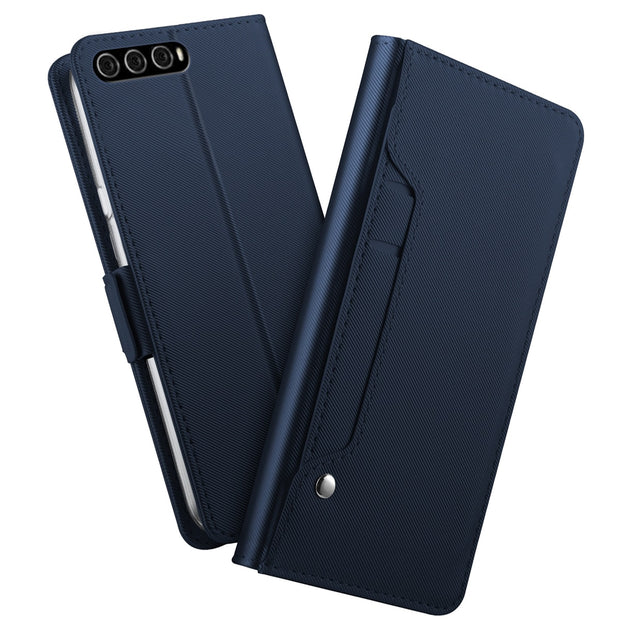 For Huawei Honor V20 Case Luxury PU Leather Flip Stand Magnetic Buckle Wallet Case With Rotation Card Slot Pocket And Mirror