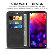 For Huawei Honor View 20 V20 Case Calf Grain PU Leather Flip Stand Cover Wallet Case For Huawei Honor V20 Cover With Card Holder