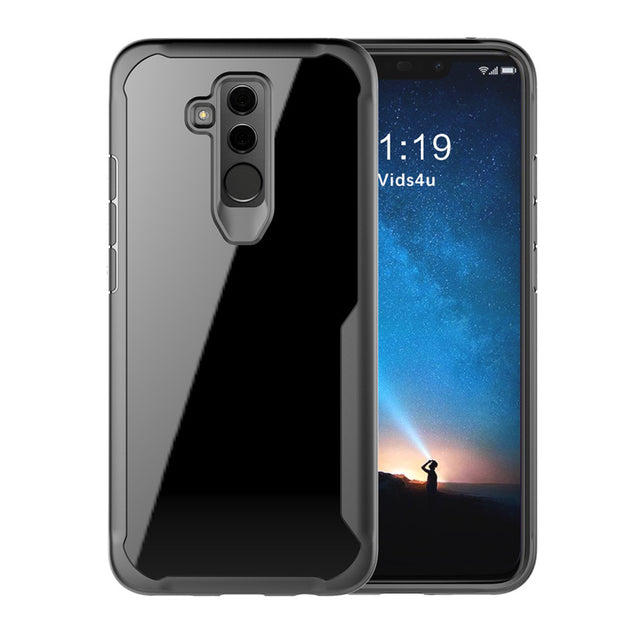 For Huawei Mate 20 Lite Case Soft Silicone+Transparent PC Armor Protective Back Cover Case For Mate20 Lite Cover Phone Shell
