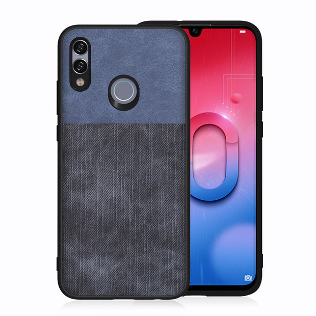 For Huawei P Smart 2019 Case Jeans Texture PU Leather Case For Honor 10 Lite Good Quality Luxury Vintage For Honor 10 Lite Cover