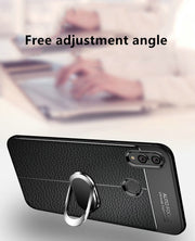 For Huawei P Smart 2019 Case Magnet Car Ring Holder Case Soft TPU Silicone Frame Cover For Huawei Honor 10 Lite 10lite