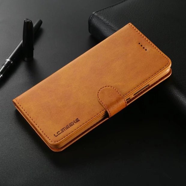 For Huawei P20 Lite Case Leather Magnetic Flip PU Wallet Cover For Huawei P9 Lite P10 Plus Mate 10 Pro Case Silicone With Stand