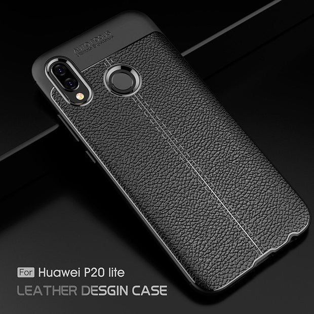 "For Huawei P20 Lite Case Luxury Ultra-Thin Shockproof Soft TPU Leather Cases For Huawei Nova 3e 5.84"" Coque Fundas"