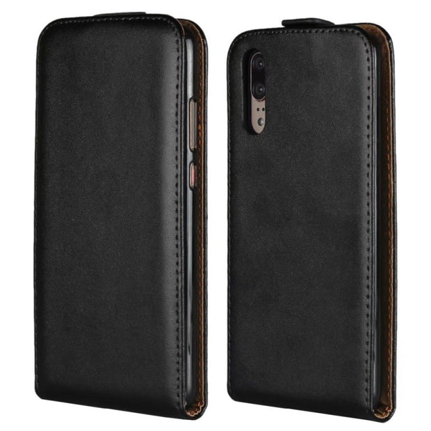 For Huawei P20 Lite Flip Case Genuine Leather Case Pouch Protection Flip Shell Cover