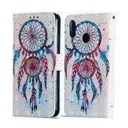 For Huawei P20 Lite Nova 3E Flip PU Leather Case 3D Printed Wallet With Stand Feature Card Slots Magnetic Clasp Protective Cover