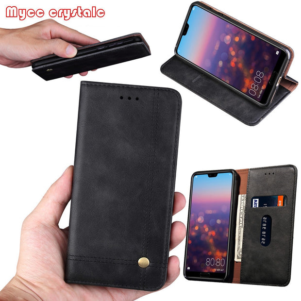 For Huawei P20 Pro Case Luxury Leather Flip PU Wallet Phone Fundas Cover For Huawei P20 Lite /Nova 3e Case Accessories