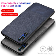 For Huawei P30 Case Ultra-thin Leather Texture Fabric Canvas Soft Silicon Cover For Huawei P30 Phone Case Shockproof Capa (M228)