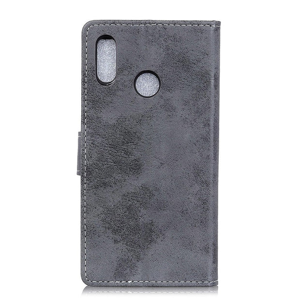 For Huawei P30 Lite Vintage Matte Retro Wallet PU Leather Flip Stand Card Money Slot Magnetic Snap Business Case For Huawei P30