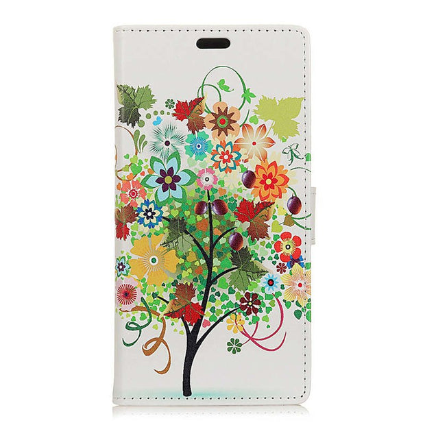 For Huawei P30 Owl Bird Cat Fruit Trees IMD Patterned Wallet PU Leather Flip Stand Magnetic Snap Case For Huawei P30 Pro