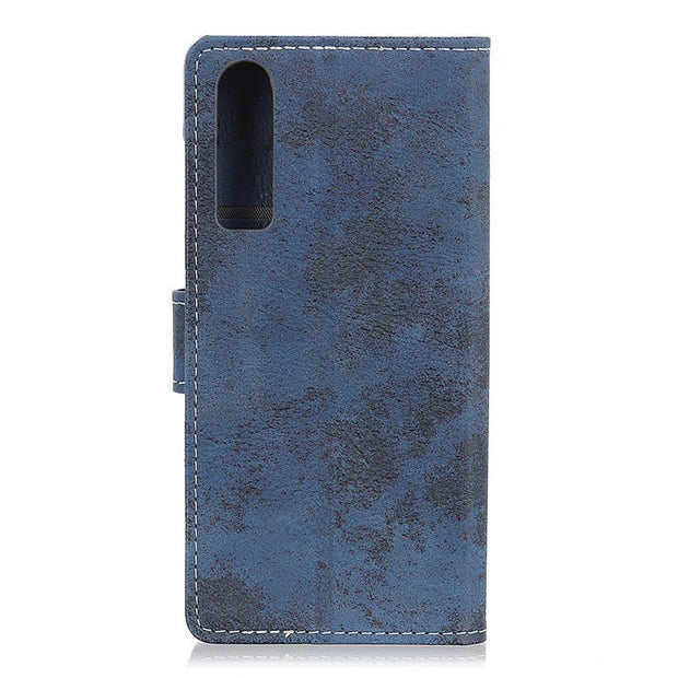 For Huawei P30 Vintage Matte Retro Wallet PU Leather Flip Stand Card Money Slot Magnetic Snap Business Case For Huawei P30
