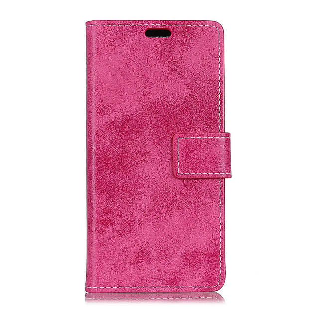 For Huawei P30 Vintage Retro Matte Solid Plain Stand Wallet PU Leather Flip Stand Magnetic Snap Case For Huawei P30 Pro