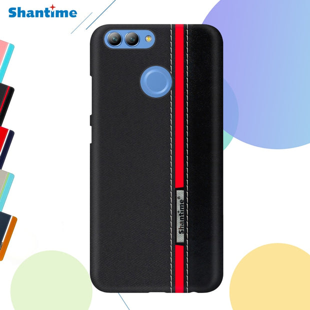 "For Huawei Y9 2018 Fashion Colorful Phone Case For Huawei Honor 7C 5.99"" Business Case For Huawei Honor 9 Lite Leather Case"
