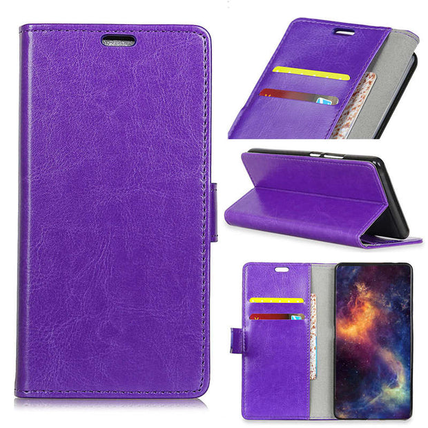 For Huawei Honor 8A Crystal Grain PU Leather Flip Cover Case Fashion Magnetic Snap Stand Wallet Card Slot Case For Honor 8A