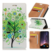 For Huawei Honor Play 8A Colored Drawing Fruit Trees Ladybug Tiger Cat Tower IMD Leather Flip Cover Magnetic Snap Wallet Case