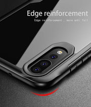 For Huawei Nova 4 Case Cover Silicone Bumper+ PC Armor Phone Case Clear Transparent Nova 4 Shockproof Protective Shield Luxury