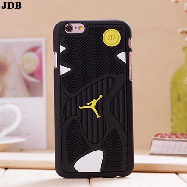 For Iphone 7 4.7inch 7Plus Phone Case 5.5inch 3D Jordan Sport Basketball Phone TPU Back Cover Case For Iphone 8 Plus X